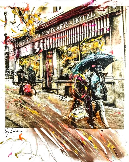 Pola-painting 52,8x64,2cm - Impression urbaine Luxembourg - Ballade