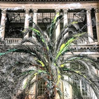Photo-aquarelle 40x40 cm - Impression du sud - Nice 2