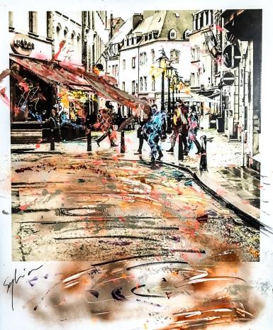 Pola-painting 52,8x64,2cm - Impression urbaine Luxembourg - Street feeling